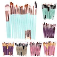 UN3F 15Pcs Eyeshadow Makup Brushes Tool Eye Powder Brush Set