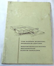 1962 The Babies' Hospital Research Center Booklet ~ Wilmington, NC