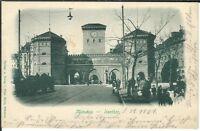 Ansichtskarte München - Isarthor mit Passanten/Kutsche - Verlag Hayer - 1901 !!