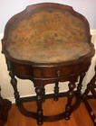 William & Mary Revival Flip Top Gaming Table with Gate Legs and Needlepoint Top