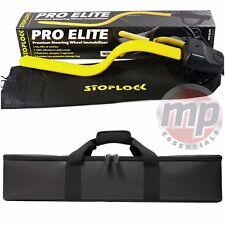 Stoplock Pro Elite Car & Van Amarillo Bloqueo Del Volante & Carry Case bolsa de almacenamiento