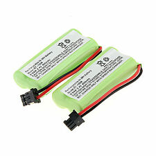 2Pcs 800mAh Cordless Phone Rechargeable Ni-MH Battery For  Uniden BT-1008 -Green