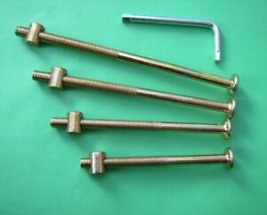 2-8x Bed Bolts M8 Fitting Kits. 15mm x 12mm Barrel NUT/Wood. 70-80-90mm.