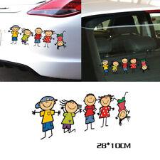 Funny Cute Family Kids Children Cartoon Boy Girl Car Sticker Window Decal
