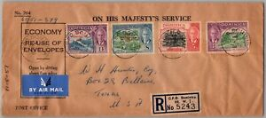 GP GOLDPATH: DOMINICAN REPUBLIC COVER 1951 REGISTERED LETTER AIR MAIL _CV522_P10