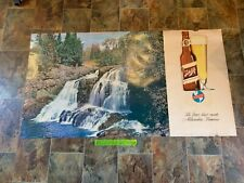 VTG 1959 Schlitz Beer POSTER 63X34 INCHES OVER 5 FEET WATERFALL beer bottle