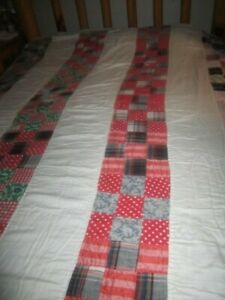 REDUCED TO 39.58 Vintage Beautifully Made ~ Hand Stitched FULL 80X74 QUILT NICE