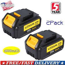2XFor Dewalt DCB204-2 20V 20 Volt Battery Max XR 4.0Ah Lithium Ion DCB205 DCB200