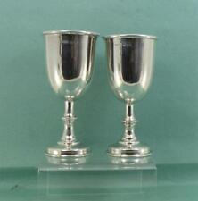 More details for vintage sterling silver kiddush cups /wedding goblets  a.t & sn london 1970