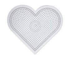 Placa de corazón clara transparente para Fusible Hama Cuentas 15 cm comprar 3 para 2