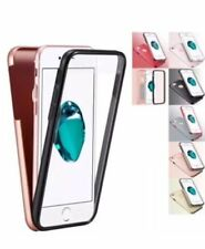 Shockproof 360° Silicone Protective Clear Case cover For Apple iphone 5 to XSmax