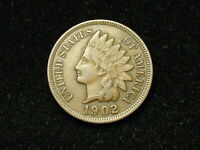 SUMMER SALE!! XF 1902 INDIAN HEAD CENT PENNY w/ DIAMONDS & FULL LIBERTY #91s