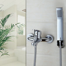 US Wall Mounted Bathroom Tub Faucet W/ Hand Shower Sprayer Clawfoot Mixer Tap