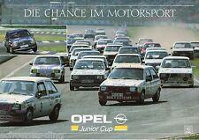 Werbeblatt OPEL Junior Cup, 1988