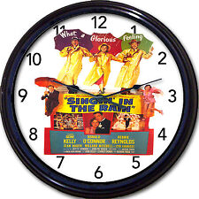 "Singing In The Rain Gene Kelly Movie Poster Wall Clock Debbie Reynolds New 10"""