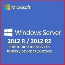 Windows Server 2012 R2 RDS Remote Desktop Services 10 User Cal's License-Limited