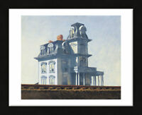 FRAMED ART House by the Railroad, 1925 by Edward Hopper Print Black Frame 13x16