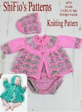 KNITTING PATTERN for BABY JACKET PANTS & HAT #324 NOT CLOTHES