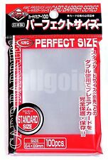 100 BUSTINE PERFECT SIZE KMC SLEEVES Magic Pokemon Force Of Will MTG 64x89 mm