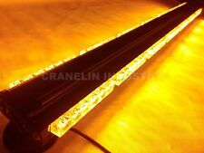 DOUBLE SIDE 252W LED LIGHT BAR RECOVERY BEACON WARNING STROBE AMBER 1050MM