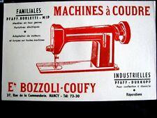 Buvard MACHINES A COUDRE PFAFF-BORLETTI-MOP-DURKOPP , Ets Bozzoli-Coufy Nancy