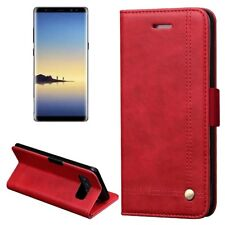 Tuff-Luv Faux Leather Book-style Stand Case Cover for Samsung Galaxy Note 8 -Red