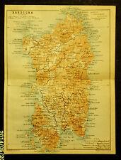 1908:Handbook  For Travellers=Topografica ISLE SARDEGNA=CAGLIARI Scala1:1350000