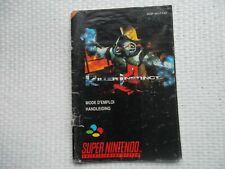 Notice Super nintendo / Snes manuel Killer Instinct PAL original Booklet *