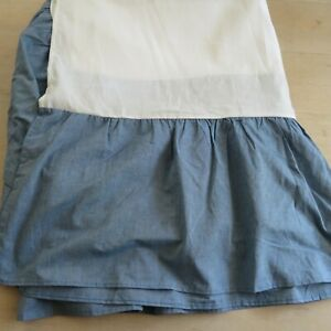 Vintage Dan River California King Size Bed Skirt Blue Made in USA