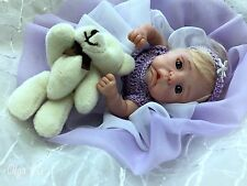 OOAK baby Olenka  miniature art doll  by Olga KS   7 ""