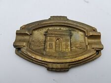 "Vintage Metal Plaque Arc de Triomphe France Souvenir RC-518 S.P.A 4-1/8"" x 3"""