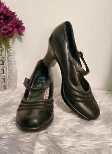Women's Dansko Shoe Becky Size US 11.5-12M/EU 42 Black Mary Jane Heel Pump~VGC
