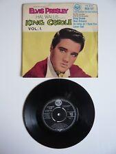 """Elvis Presley Rey Criollo Vol.1 1961 Reino Unido Rca 4 Track EP 7"""" único centro de 4 Clavijas"""