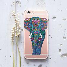 Floral Elefante iPhone XR Silicona Funda Boho iPhone 4s 5s 6s Gel Cubierta iPhone 7