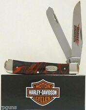 Case CA52096 Harley Trapper Folding Knife Clip/Spey Blades Lava Kirinite Handle