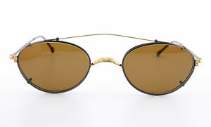 Oliver Peoples Glasses + Sunglasses OP-83 Oval Metal Small + Sun-Clip Burgundy