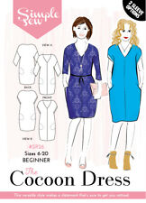 Womens BEGINNER The Cocoon Dress UK SIZES 8-20 Ladies Sewing Pattern SR26