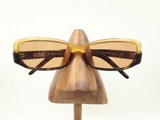Vintage Gianfranco Ferre GF10104 Tortoise Yellow Rectangle Sunglasses Italy