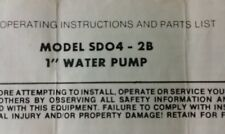 Fuji Robin Pumps Operator's, Parts & Service Manual 6pg Irrigation Water Subaru