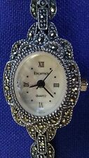 "Watch Women Bracelet Sterling Silver 925 ""Boma"" Quartz Weight 27.8g ""Preowned"""