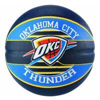 Spalding NBA Official Team Logo Ball Oklahoma City Thunder Rubber Basketball
