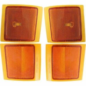 NEW 4 PIECE SET SIGNAL MARKER LIGHTS FITS 1994-2000 CHEVROLET C2500 KIT4.BS