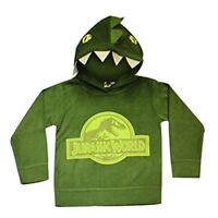 Official Jurassic World Boys Dinosaur Hoodie Jumper Sweater T Rex Dino Kids Park