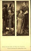 Künstlerkarte J. Löwy Wien 1908 Die Flügel eines Triptychons Hugo Van Der Goes