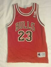 Michael Jordan #23 red Chicago Bulls Champion Nba jersey youth L 14-16