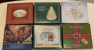 White House Historical Christmas Ornaments 2007-2012, Lot Of 6