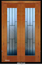 "Beautiful Leaded glass Doors 1 Pr ( 2 )  24"" x 80"" pre-hung in frame"