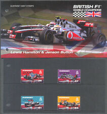Guernsey-británica F1 campeones del mundo-Lewis Hamilton-Botón-Set Y Pres. Pack estampillada sin montar o nunca montada
