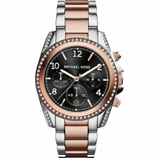 Original Michael Kors Damen Uhr Bicolor MK6093 Chronograph Blair Neu &Ovp