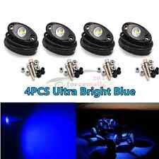 4x Offroad JEEP Cree LED Rock Light Boat Truck Under Body Glow Ultra Bright Blue